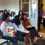 La secretaria de Gestión Educativa en reunión sobre organización de jornadas institucionales con directivos de IES, Agosto 2016