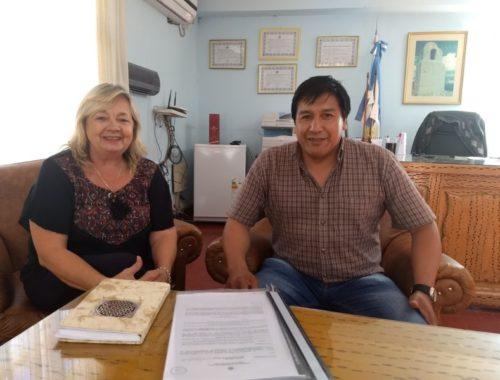 Educación articula acciones con el intendente de Humahuaca. Febrero 2018