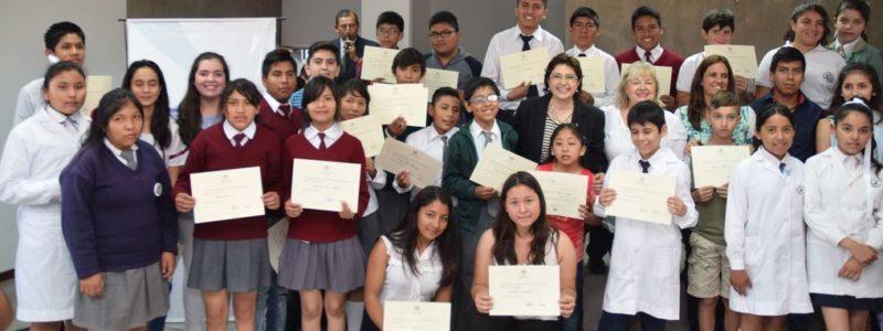 """""""Celebremos la educación"""". Se entregaron distinciones a aquellos alumnos que se han destacado en diferentes certámenes escolares, tanto a nivel provincial, nacional e internacional."""