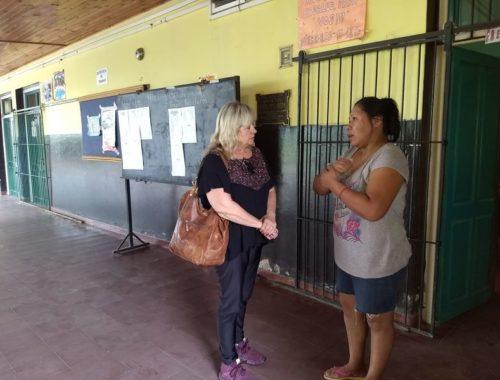 Continúan las visitas a las escuelas durante el receso escolar para verificar para verificar que los edificios escolares se encuentren abiertos.  Enero 2018