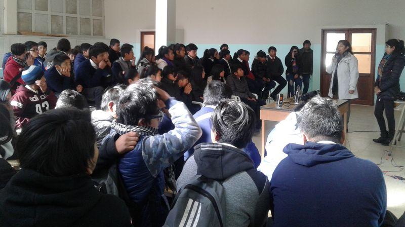 """Proyecto """"Ama tu vida"""" en la Escuela Técnica de Maimará."""