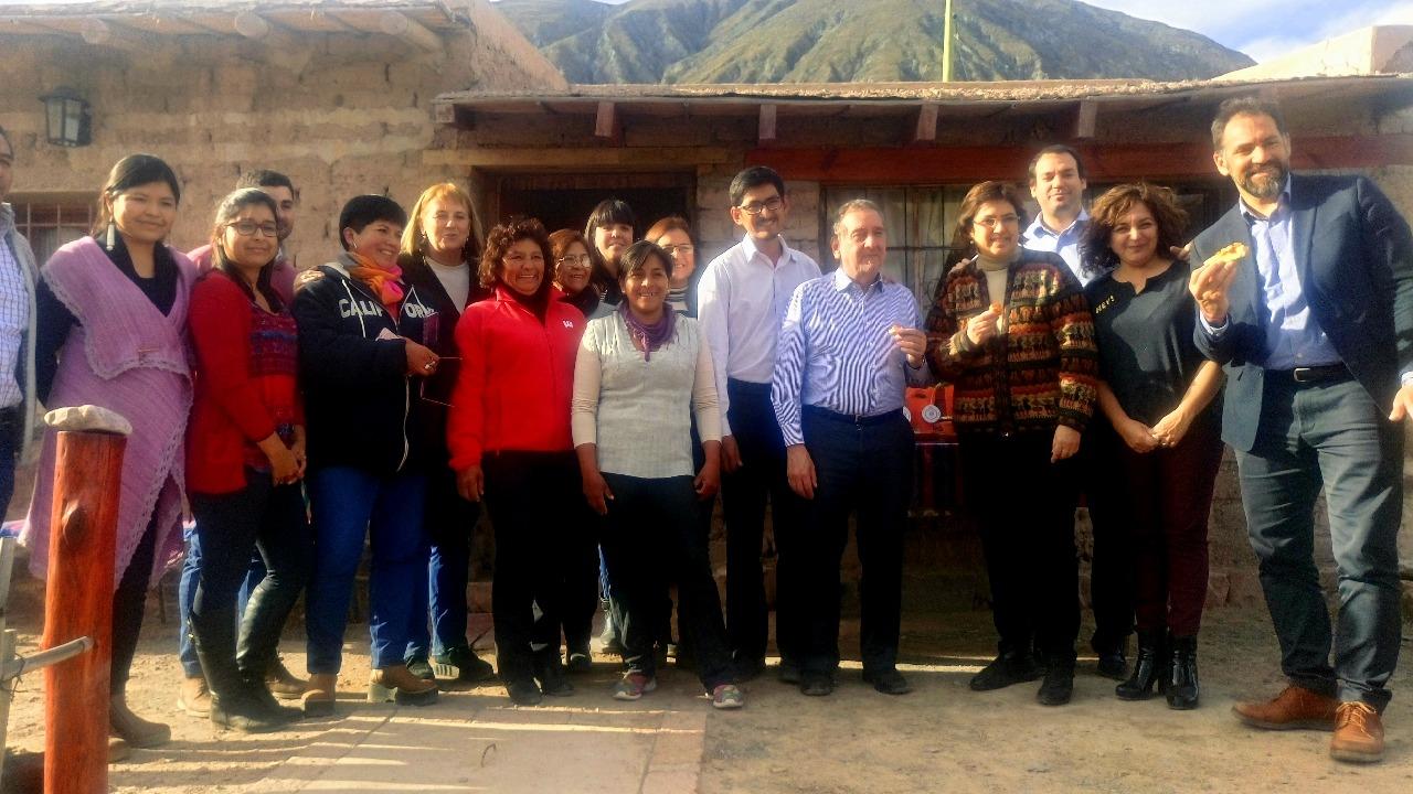 El ministro de Ciencia y Tecnología de la Nación Lino Barañao recorrió este viernes localidades de la Quebrada de Humahuaca para observar el avance de proyectos financiados por la cartera nacional.. Julio 2018