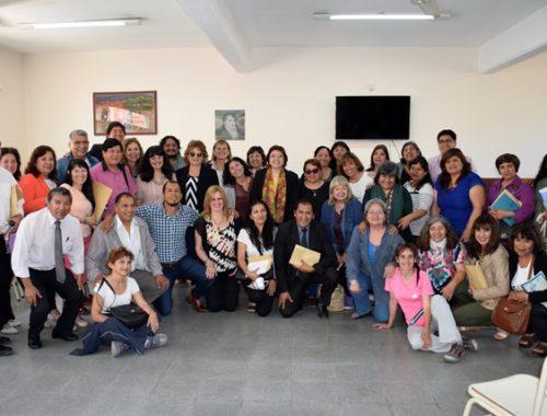 Directores y supervisores de escuelas de Capital y Perico evaluaron los avances y dificultades de la transformación de la escuela secundaria en una jornada con la ministra de Educación. Octubre 2018