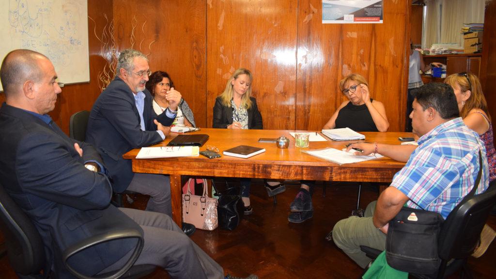 """El gabinete ministerial se reunió con los referentes de ATE, ATSA y UPCN para implementar la """"Bolsa de Trabajo""""."""